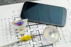 Technologie à la maison futée photographie stock libre de droits