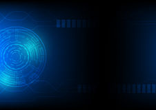 Technologie abstracte achtergrond in blauw, hi-tech cyberspace van sc.i-FI themaconcept, geïllustreerd eps 10 Royalty-vrije Stock Foto's