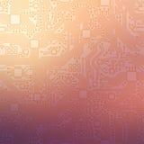 Technologie abstracte motherboard illustratieachtergrond Stock Fotografie