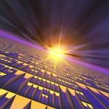 technologie abstraite du soleil d'éclat de fond Photo stock