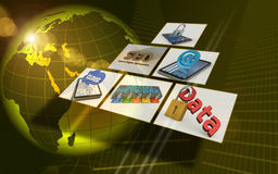 Technologie-abstrakter Hintergrund Lizenzfreies Stockfoto