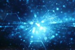 Technologie-abstrakter Hintergrund, futuristischer Hintergrund, Cyberspace Konzept lizenzfreie abbildung