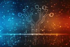 Technologie-abstrakter Hintergrund, futuristischer Hintergrund, Cyberspace Konzept stock abbildung