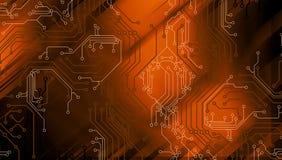 Technologie-abstrakter Hintergrund, futuristischer Hintergrund, Cyberspace Konzept Auch im corel abgehobenen Betrag stock abbildung