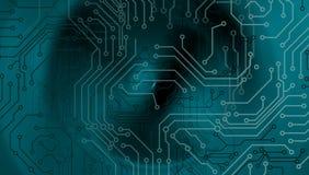 Technologie-abstrakter Hintergrund, futuristischer Hintergrund, Cyberspace Konzept Auch im corel abgehobenen Betrag vektor abbildung