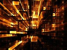 Technologie-achtergrond - abstract digitaal geproduceerd beeld Stock Foto's