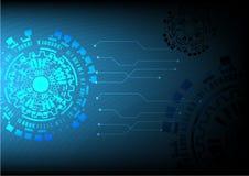 Technologie achtergrond vectorillustratorontwerp Stock Afbeelding