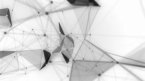 technologie Animation abstraite Fond Plexus noir et blanc banque de vidéos