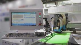 Technologie-Ausstellung in China Ausstellung von modernen werkzeugmaschinen stock video