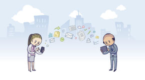 Technologie bei der Arbeit Lizenzfreie Stockfotos