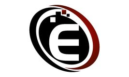 Technologie-Bewegungs-Synergie-Buchstabe E Lizenzfreie Stockbilder