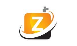 Technologie-Bewegungs-Synergie-Buchstabe Z Lizenzfreies Stockfoto