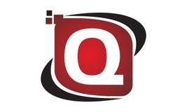 Technologie-Bewegungs-Synergie-Initiale Q Lizenzfreie Stockfotografie