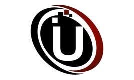 Technologie-Bewegungs-Synergie-Initiale U Lizenzfreie Stockfotos