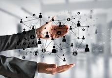 Technologie bezprzewodowe jak sposoby komunikacja biznesowa Zdjęcie Stock