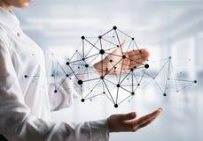 Technologie bezprzewodowe jak sposoby komunikacja biznesowa Fotografia Stock