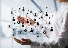 Technologie bezprzewodowe jak sposoby komunikacja biznesowa Obraz Stock