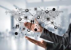 Technologie bezprzewodowe jak sposoby komunikacja biznesowa Obraz Royalty Free