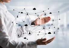 Technologie bezprzewodowe jak sposoby komunikacja biznesowa Obrazy Stock