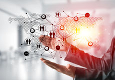 Technologie bezprzewodowe jak sposoby komunikacja biznesowa Fotografia Royalty Free