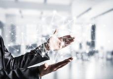 Technologie bezprzewodowe jak sposoby komunikacja biznesowa Zdjęcia Stock
