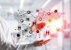 Technologie bezprzewodowe jak sposoby komunikacja biznesowa Obrazy Royalty Free