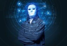 Technologie biométrique de reconnaissance faciale image stock
