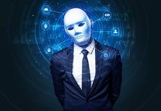 Technologie biométrique de reconnaissance faciale image libre de droits