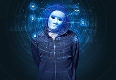 Technologie biométrique de reconnaissance faciale images libres de droits
