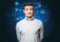 Technologie biométrique de reconnaissance faciale photo stock