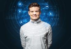 Technologie biom?trique de reconnaissance faciale image libre de droits