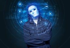 Technologie biom?trique de reconnaissance faciale photos stock