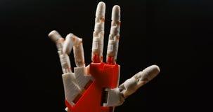 Technologie bionique futuriste dans les ourdays Bras de robotique imprimé sur l'imprimante 3D