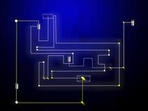 Technologie. Circuit intégré Photographie stock