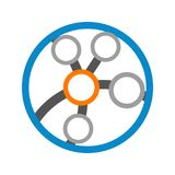 Technologie circulaire Logo Vector Graphic Design de globe de lien Image stock