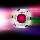 Technologie-cirkel Kleurrijke elegant op abstracte achtergrond Royalty-vrije Stock Foto