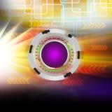 Technologie-cirkel Kleurrijke elegant op abstracte achtergrond Royalty-vrije Stock Foto's