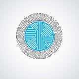 Technologie communicatie cybernetisch element Vector abstracte illustratie van kringsraad in de vorm royalty-vrije illustratie