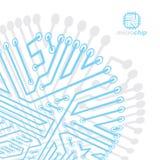 Technologie communicatie cybernetisch element Vector abstracte illustratie van kringsraad Moderne innovatietechnologie?n stock illustratie