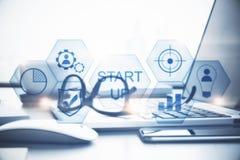 Technologie, démarrage et innovation image libre de droits