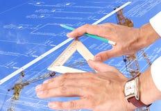 Technologie d'énergie neuve dans la construction Image stock