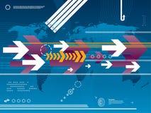technologie d'affaires de fond illustration libre de droits