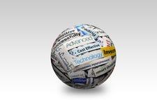Technologie 3d d'affaires Images stock