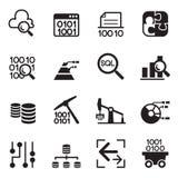 Technologie d'exploitation de données, transfert des données, entrepôt de données, diagra Image stock