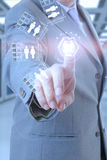 Technologie d'homme d'affaires Photo stock