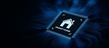 Technologie d'innovation de système de contrôle d'automation de Smart Home photo libre de droits