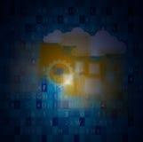Technologie d'intégration avec la nature, ciel Les meilleures idées pour des affaires Images stock