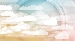 Technologie d'intégration avec la nature, ciel Les meilleures idées pour des affaires Photos stock