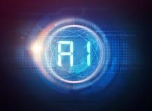 Technologie d'intelligence artificielle illustration libre de droits