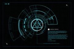 Technologie d'interface illustration libre de droits